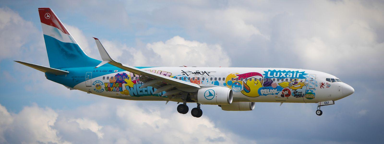 Am Freitag können die Bewohner Luxemburgs das außergewöhnliche Luxair-Flugzeug in der Luft bestaunen.