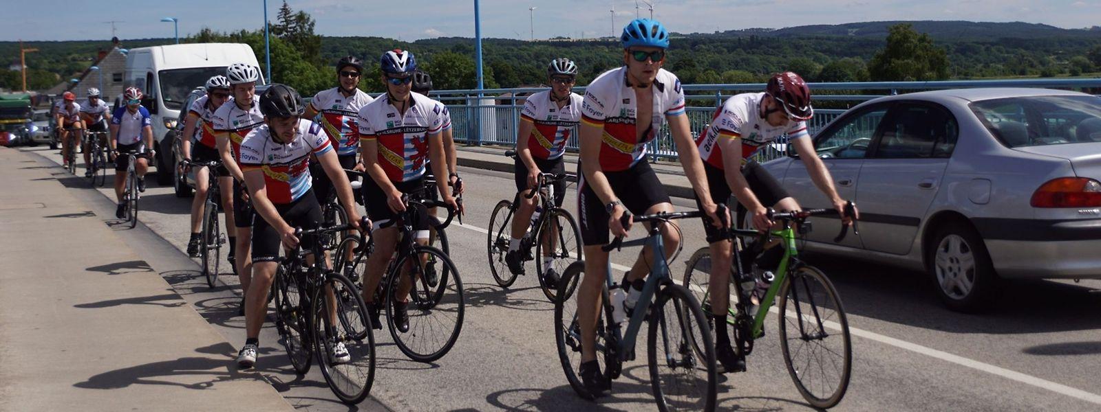 Seit 35 Jahren machen Studierende sich mit dem Rad auf den Weg von Karlsruhe nach Luxemburg.