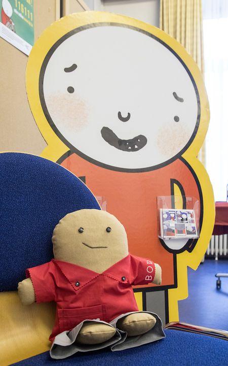 BOD, das neue Maskottchen des Kanner-Jugendtelefons, soll Kindern und Jugendlichen dabei helfen, sich jemandem anzuvertrauen.