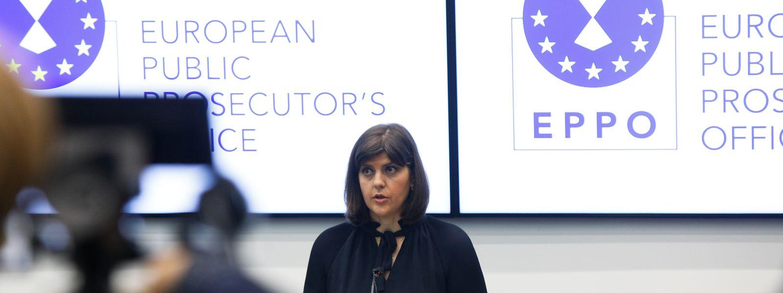 Laura Codruta Kövesi, première procureure générale du parquet européen, lors de l'inauguration officielle, le 1er juin dernier.