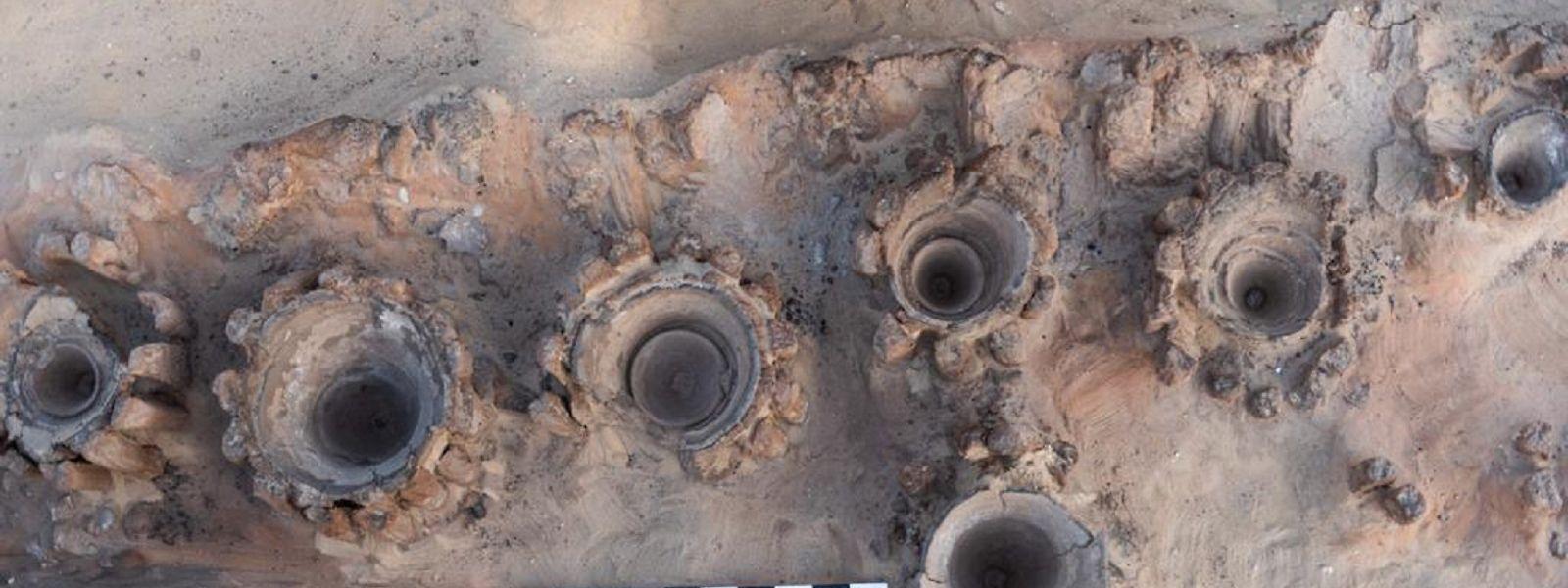 Überreste einer Brauerei, die in der antiken Stadt Abidus freigelegt wurden - den Forschern zufolge wohl die größte Bier-Produktionsstätte ihrer Zeit.