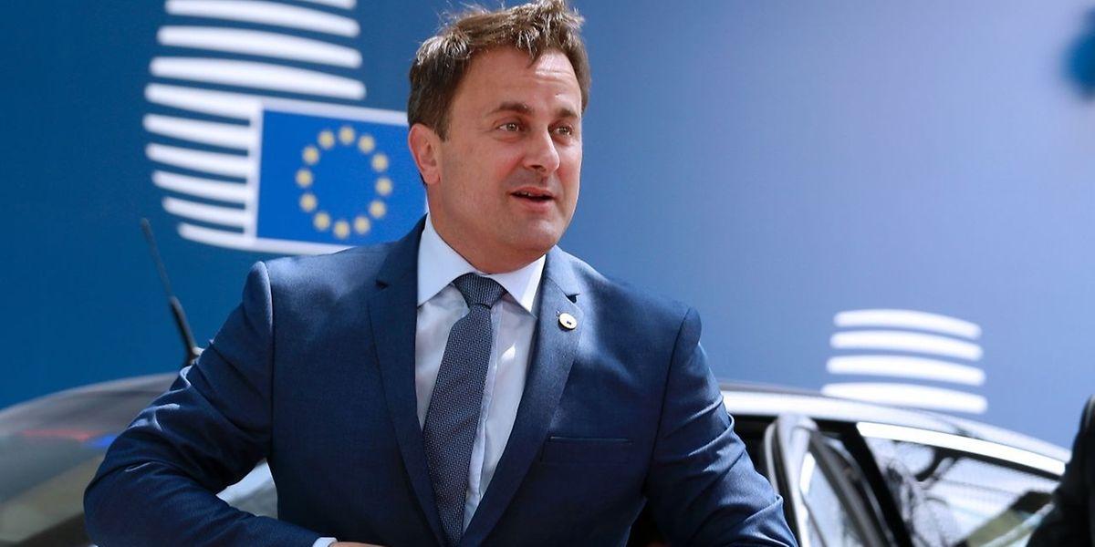 O Primeiro-Ministro do Luxemburgo, Xavier Bettel