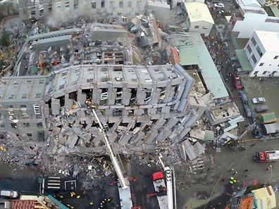 Séisme de magnitude 6,4 à Taïwan.