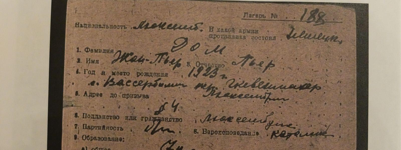 Die Historiker erhoffen sich von den persönlichen Akten der Kriegsgefangenen neue Erkenntnisse.