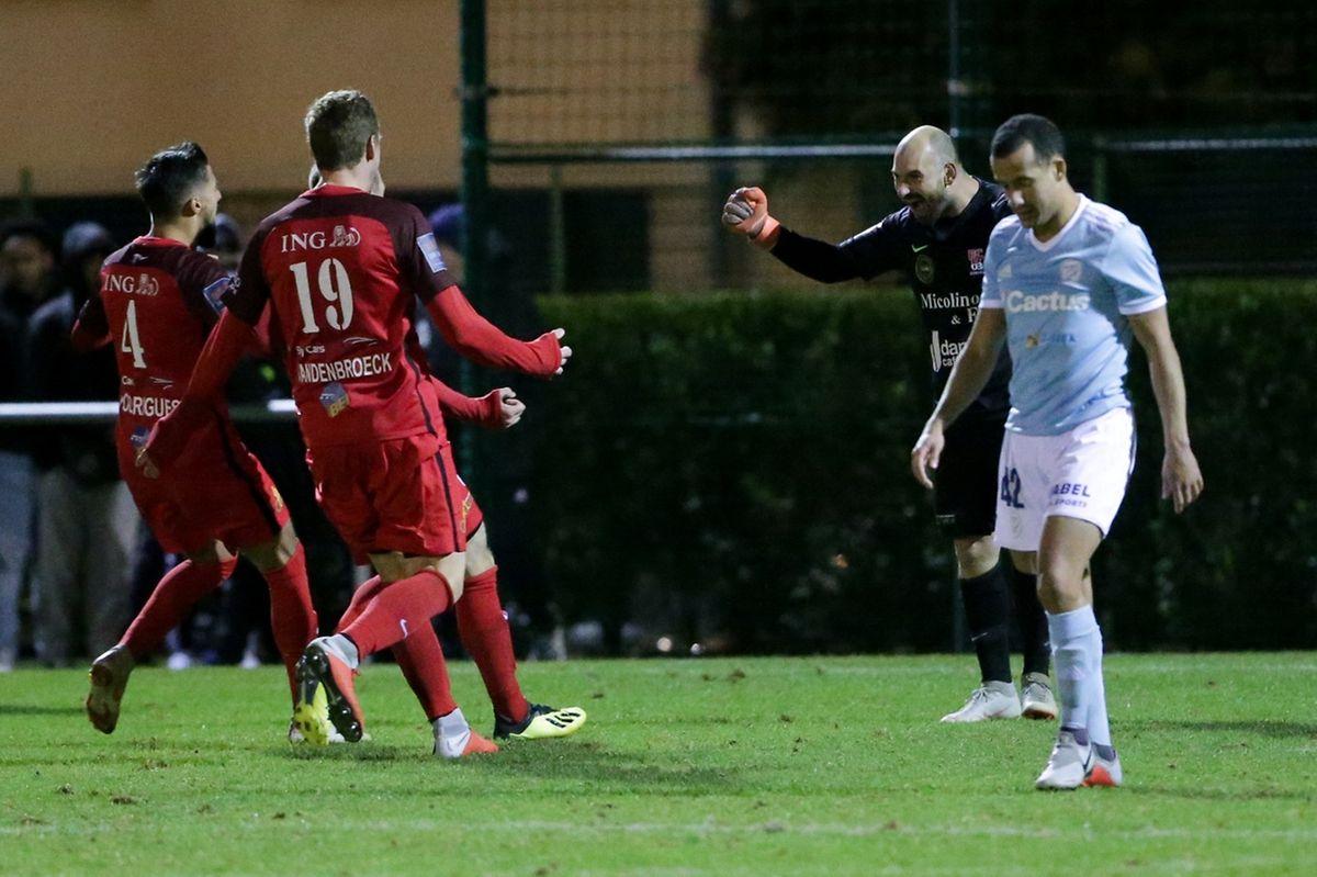 Patrick Worré héros differdangeois! Le gardien est entré pour la séance de tirs au but et son club s'est qualifié.