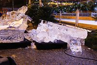 Lokales, Knuedler, Unfall, Eisskulptur, Foto: Anouk Antony/Luxemburger Wort