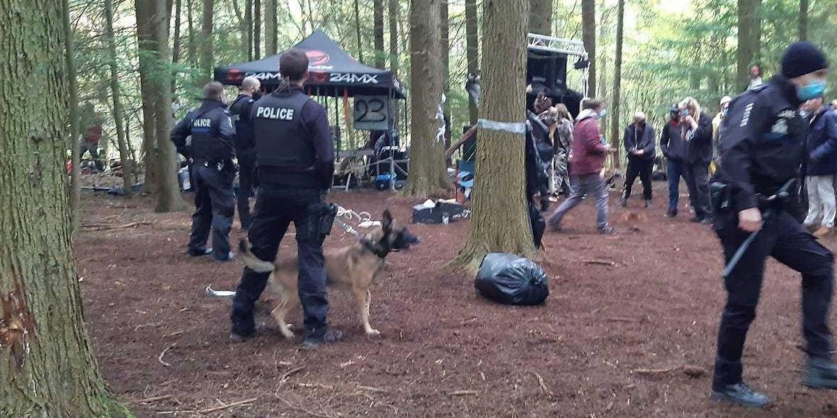 Ein Großaufgebot der Polizei war im Einsatz.