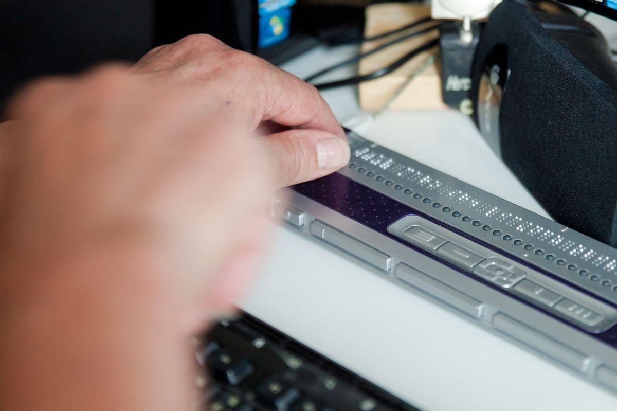 O teclado em Braille