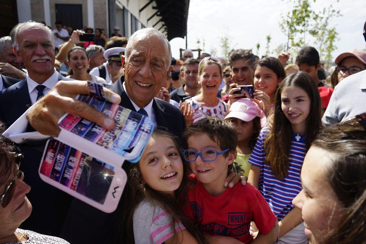 O Presidente da República, Marcelo Rebelo de Sousa, na inauguração do espaço museológico em Vilar Formoso.