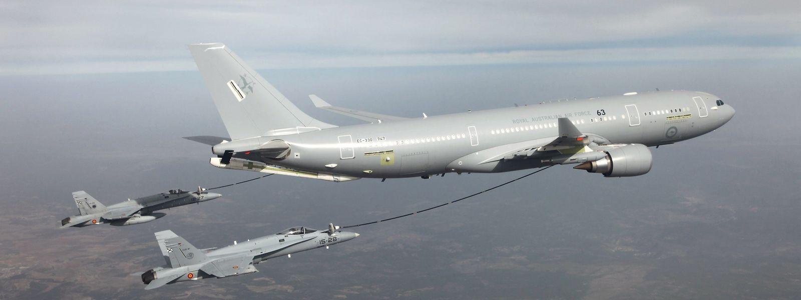 Les MRTT peuvent être utilisés pour ravitailler les avions en vol.