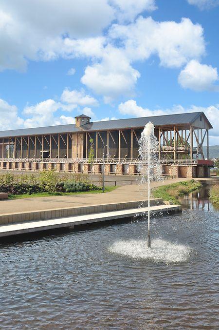 Das Gradierwerk in Bad Dürkheim gilt als eines der wichtigstenBauwerke der dortigen Kuranlagen.