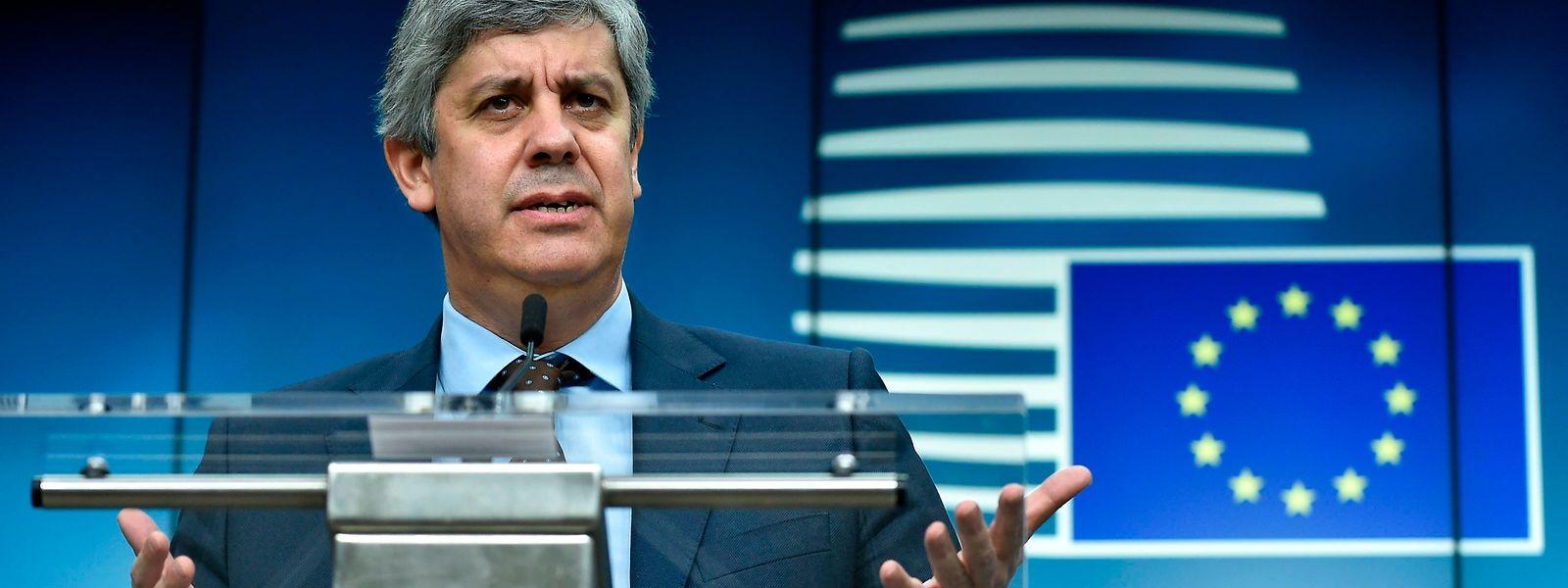 Eurogruppen-Chef Mario Centeno hat wegen des Covid-19-Virus zur Videokonferenz geladen.