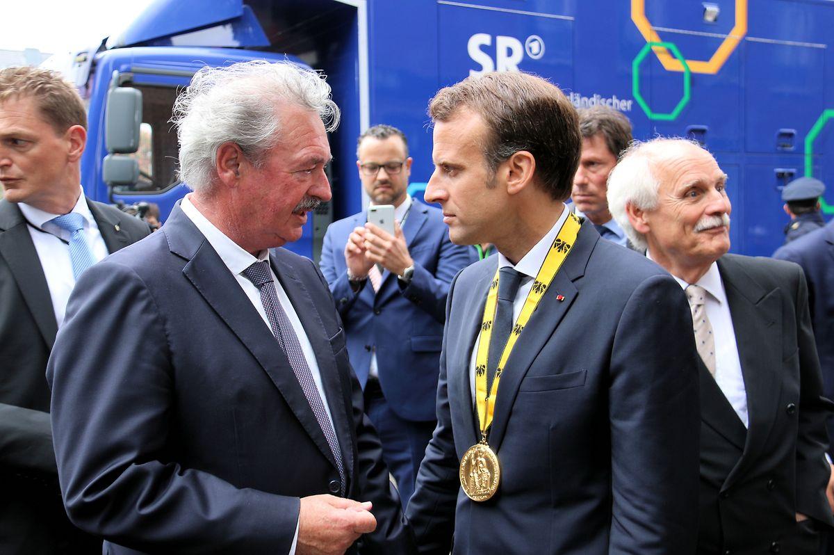 Jean Asselborn avec le Président de la République francaise, Emmanuel Macron