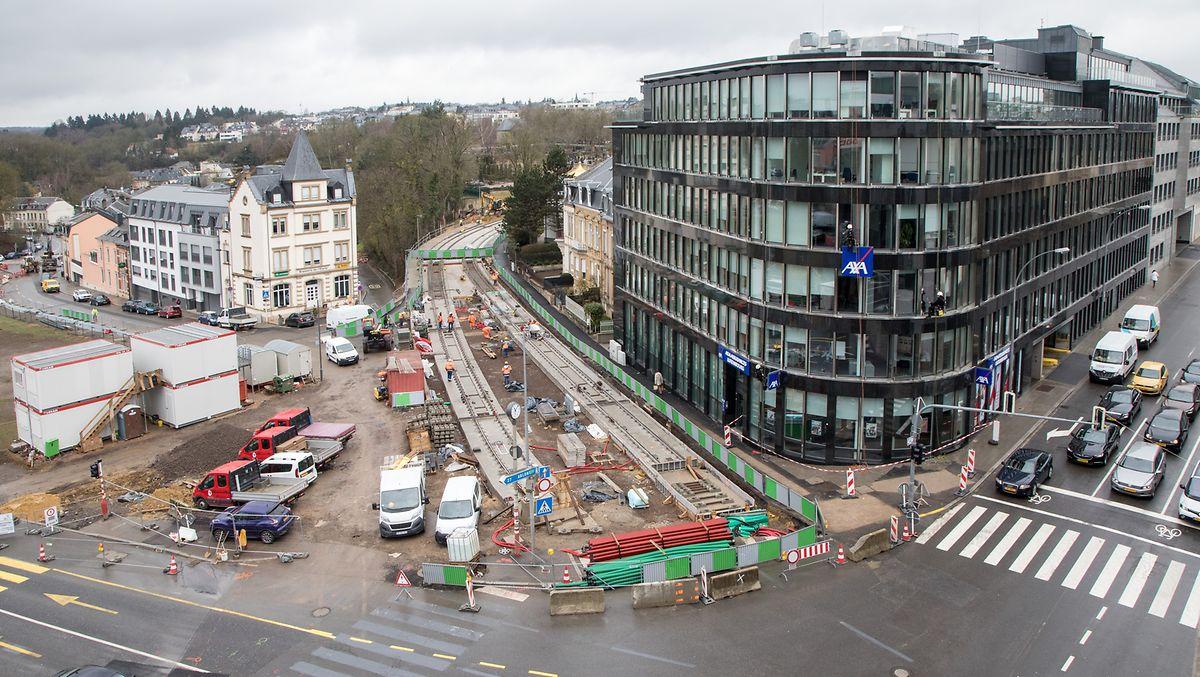 Die Place de l'Etoile Anfang April 2018.