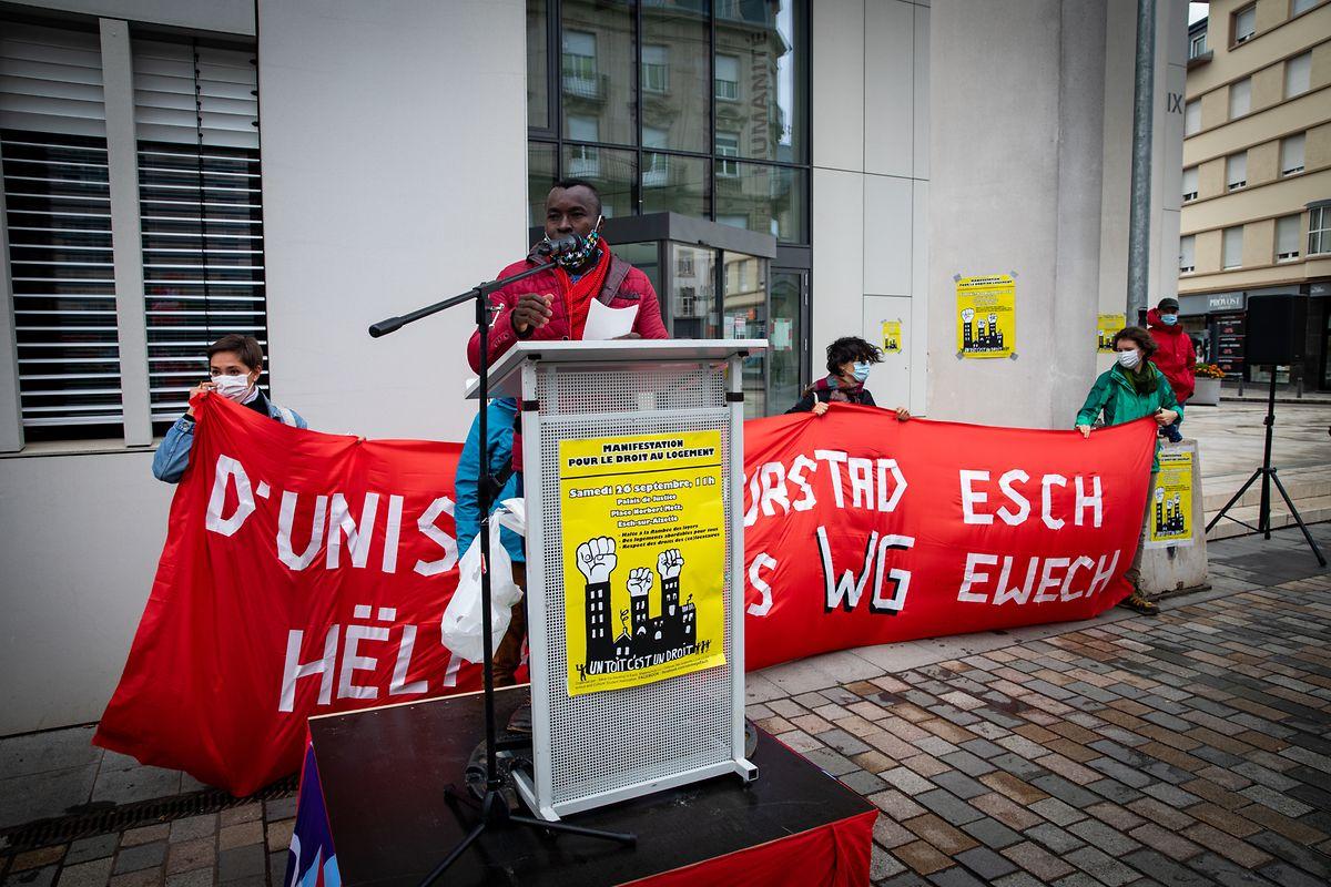 Emanuel Kamura gehört zu den Organisatoren der Protestaktion.