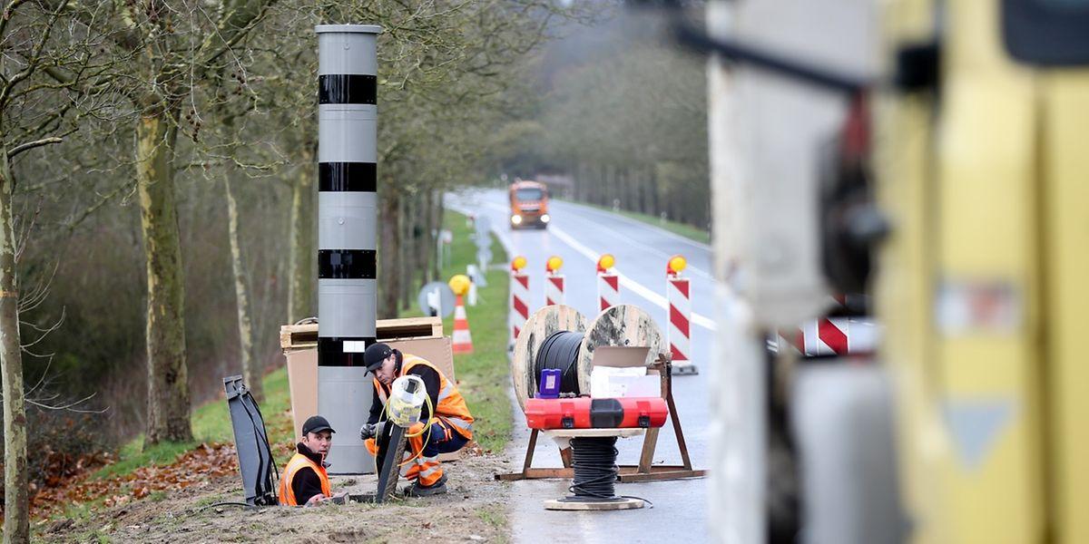 Este radar, na N11, à entrada de Gonderange, foi o primeiro a ser instalado no Grão-Ducado.