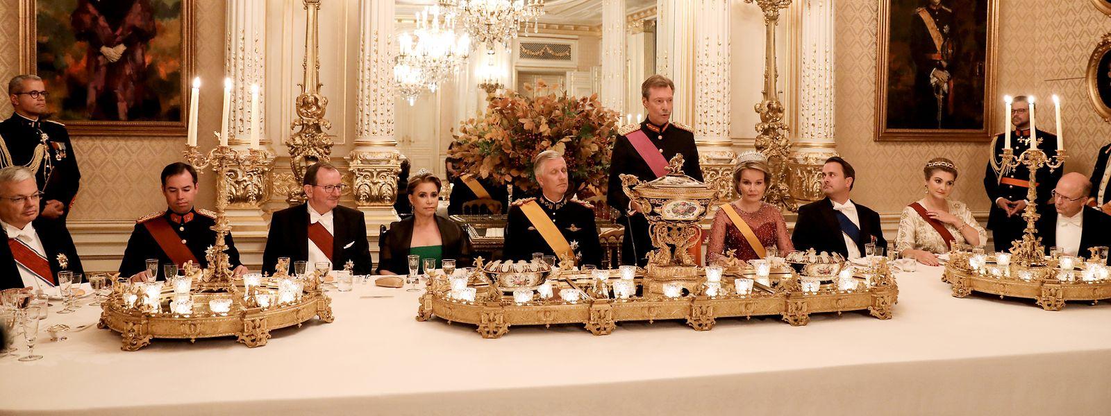 Großherzog Henri betonte bei dem Dinner die enge Partnerschaft der Nachbarländer Belgien und Luxemburg.
