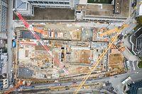 Chantier Gare - Cité de la Sécurité Sociale   - Drone - Foto: Pierre Matgé/Luxemburger Wort
