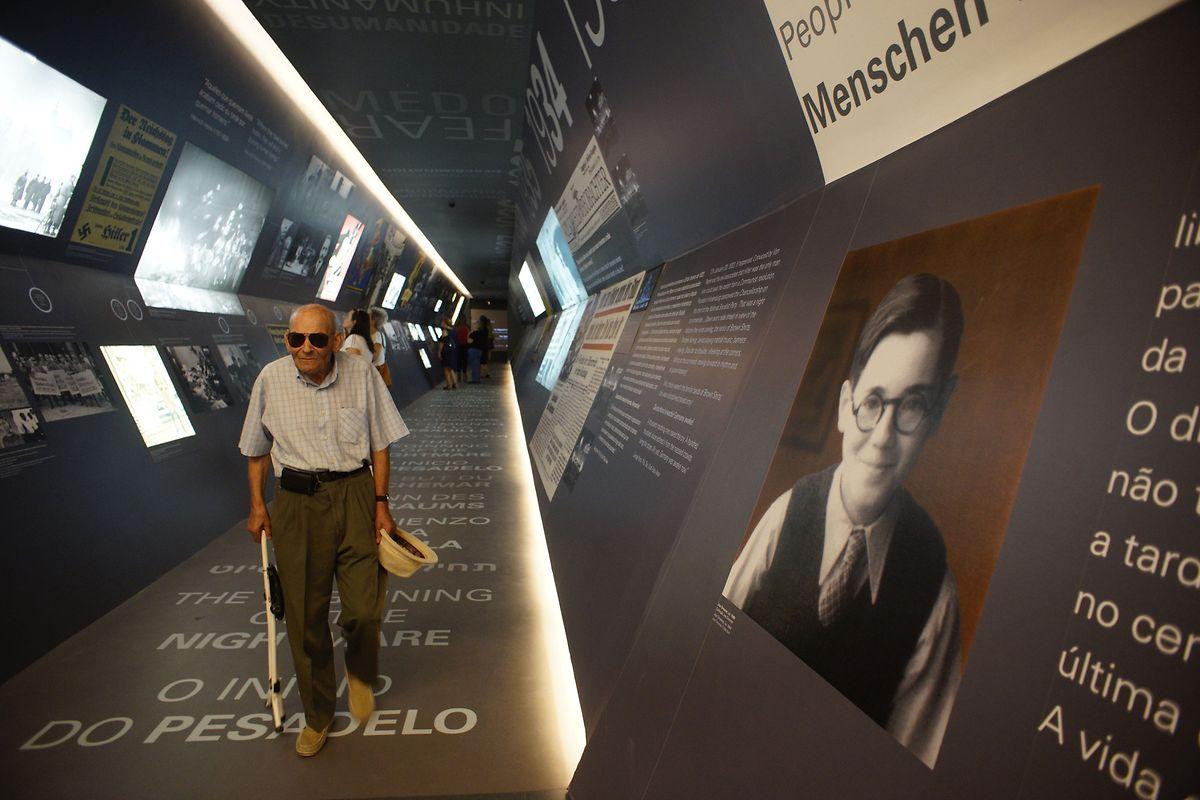 Uma imagem do interior do museu em Vilar Formoso.