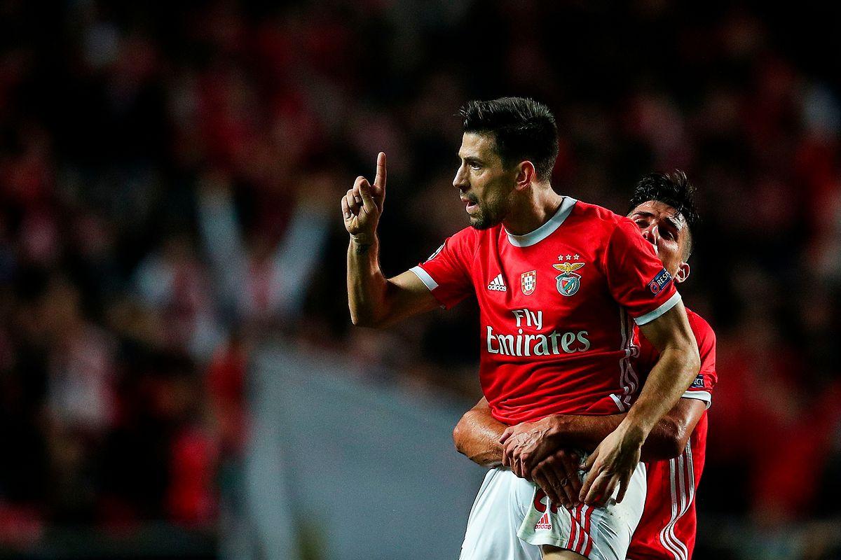 Pizzi et Gabriel Appelt savourent la première victoire de Benfica en C1 cette saison.