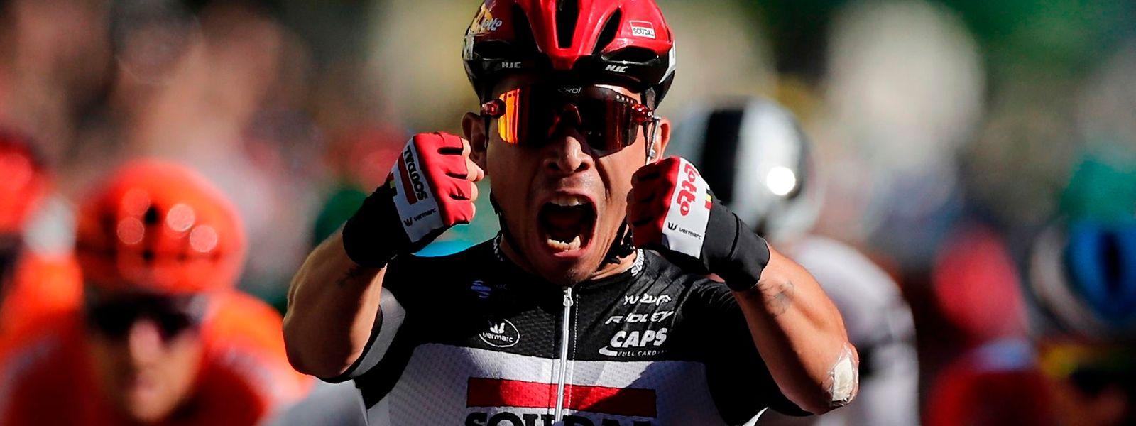 Caleb Ewan feier seinen vierten Tour-Etappensieg.