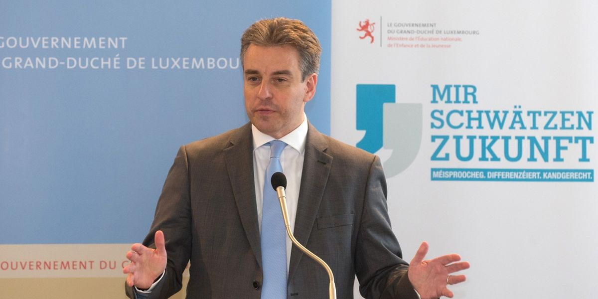 Bildungsminister Claude Meisch stellte am Donnerstag die großen Linien der Secondaire-Reform vor.