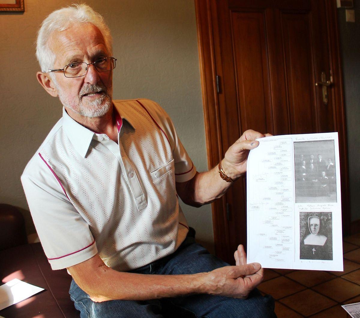 Une success-story qui fait la fierté de sa famille grand-ducale. Raymond Poos, 76 ans, de Harlange, cousin de Guy Lutgen. Il a accueilli favorablement son projet de  recouvrement de la nationalité luxembourgeoise.