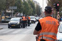 28.9. Gare / rue de Strasbourg / Verkehrskontrolle Police Grand Ducale Foto:Guy Jallay