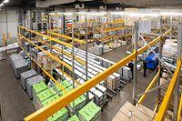 Visite Luxlait, Besichtigung neues Hochregallager. Foto: Gerry Huberty/Luxemburger Wort