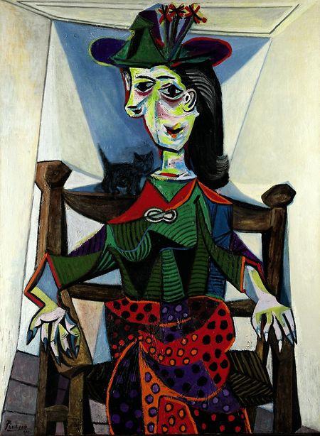 """Dora Maar with Cat"", Pablo Picasso 1941."