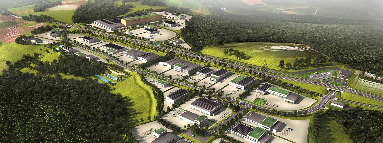 45,7 Hektar umfasst das künftige Gewerbegebiet insgesamt.