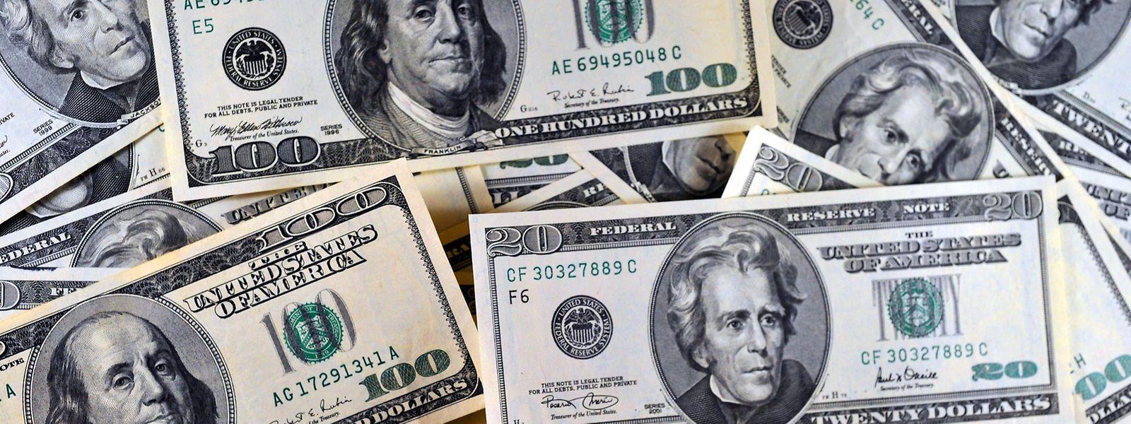 Der Wert des Dollars fällt deutlich.