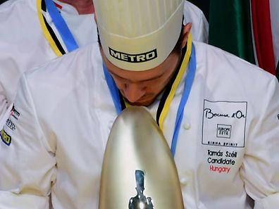 Le chef hongrois Tamas Szell a remporté le Bocuse d'or Europe en mai 2016.