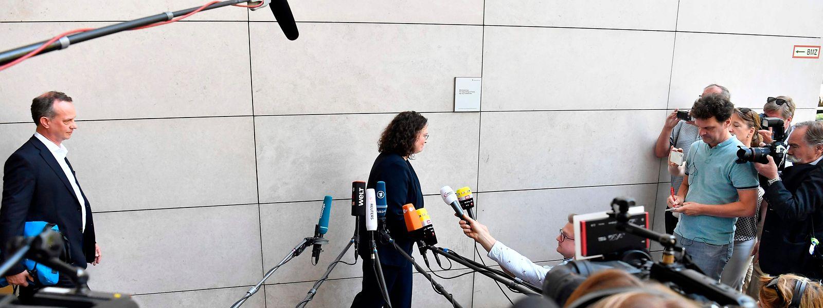 Andrea Nahles geht, aber wer kommt? Am Chefposten in der SPD scheint derzeit niemand Interesse zu bekunden.