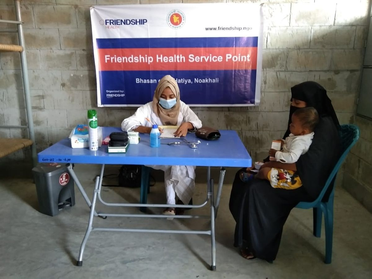 Friendship betreibt zurzeit eine Krankenstation auf Bhasan Char.