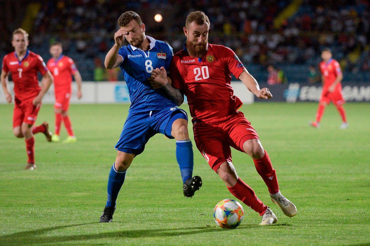 Un but et un carton jaune pour Alexander Karapetian avec l'Arménie.