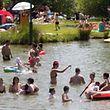 Muita gente aproveitou o mês de setembro para banhos ao ar livre