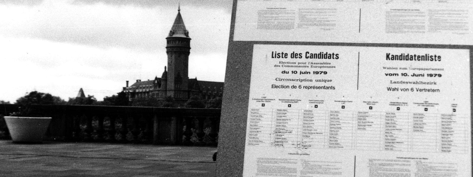 1979 fanden zum ersten Mal Europawahlen statt. Das Interesse an dieser Premiere war jedoch gering, nicht nur in Luxemburg. Im Großherzogtum wurden am 10. Juni 1979 zeitgleich Parlamentswahlen abgehalten.