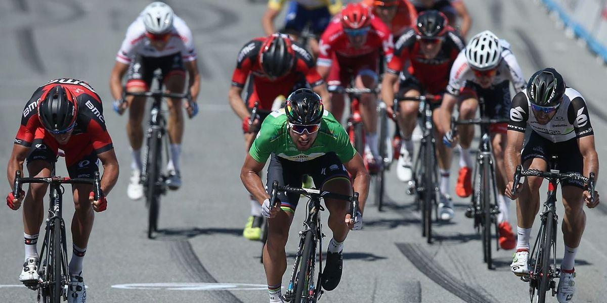 Le maillot vert Peter Sagan s'est montré le plus rapide sur le circuit de Laguna Seca