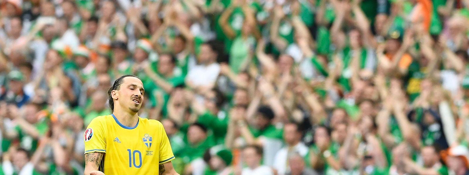 Zurecht unzufrieden: Zlatan Ibrahimovic nach dem 1:1 seiner Schweden gegen Irland.