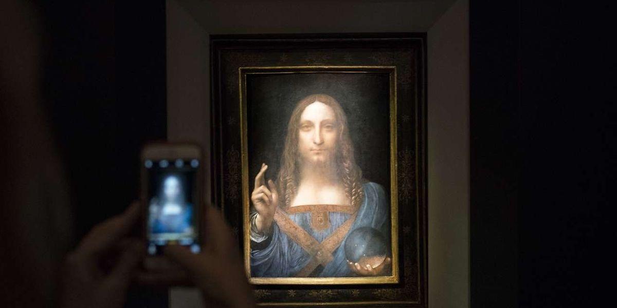 La peinture 'Salvator Mundi' par Leonard de Vinci.