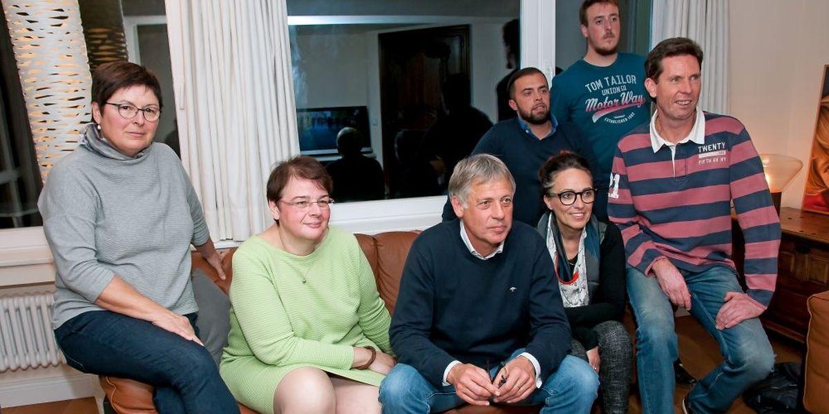 """Gedrückte Stimmung im Hause Kox, wo """"Déi Gréng"""" ihre Wahlparty abhielten."""