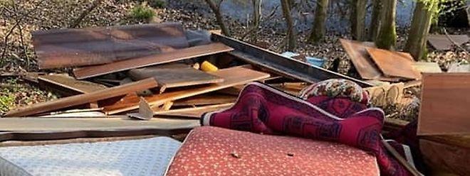 Le 29 mars dernier avait été découvert un dépôt sauvage d'immondices dans les bois entre Bettembourg et Abweiler