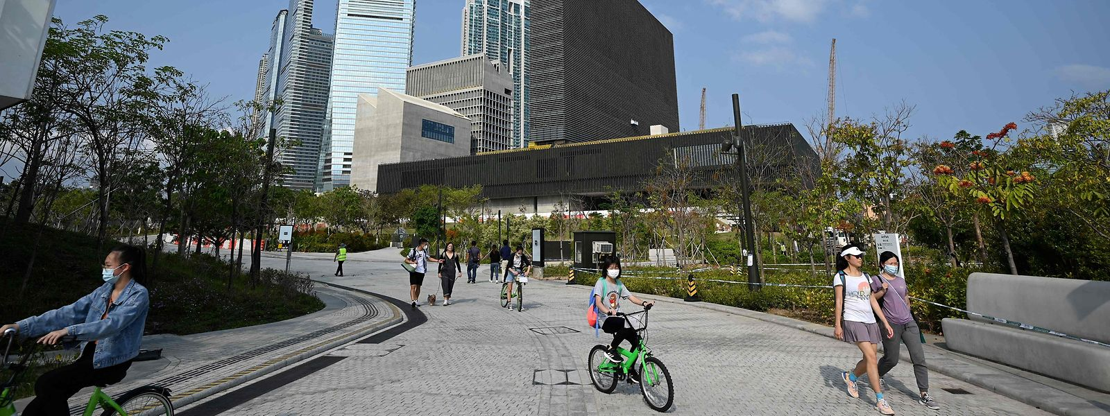 A zona cultural West Kowloon em Hong Kong. Depois de terem conseguido calar os opositores ao regime central de Pequim, as autoridades chinesas tentam impor agora a cultura mainstream na Região Administrativa Especial chinesa.