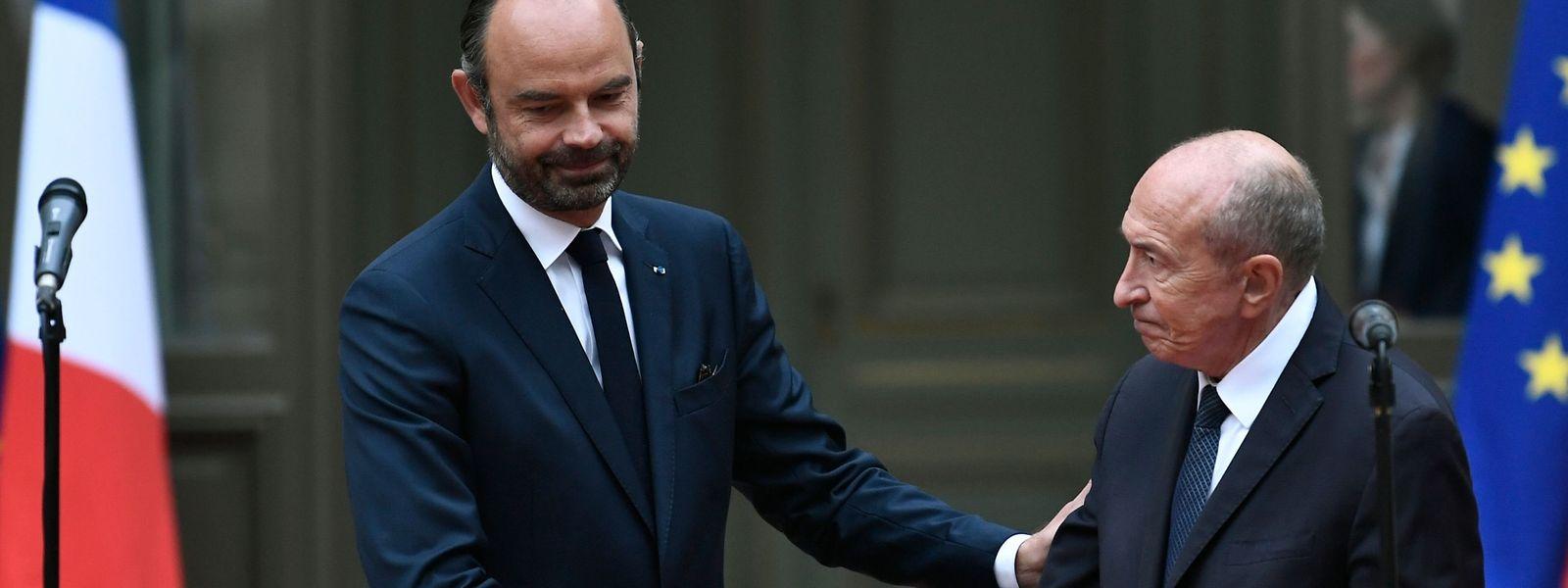 Premierminister Édouard Philippe (links) wird Gérard Collomb vorerst vertreten.