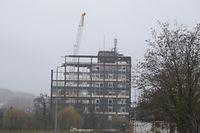 Der Abriss des Hadir Turm hat begonnen