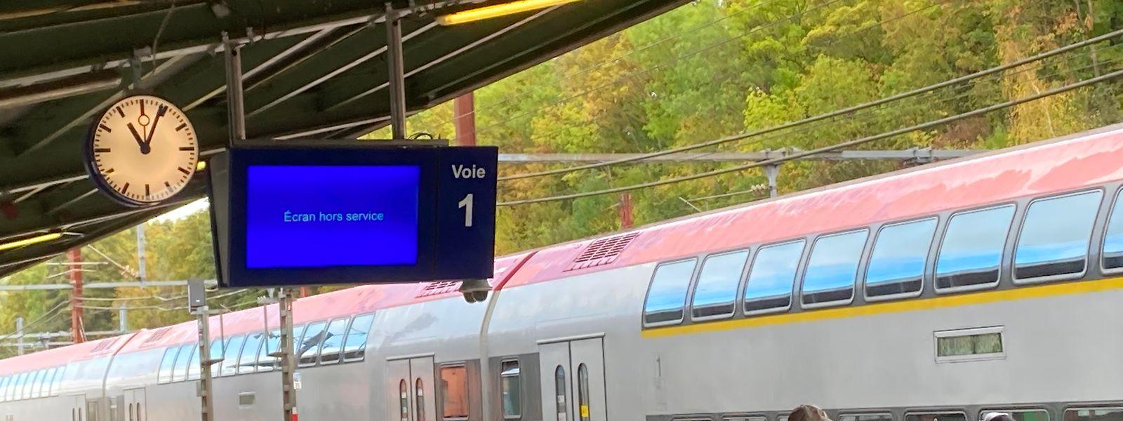 Neue Anzeigetafeln am Escher Hauptbahnhof sollen in Kürze in Betrieb genommen werden