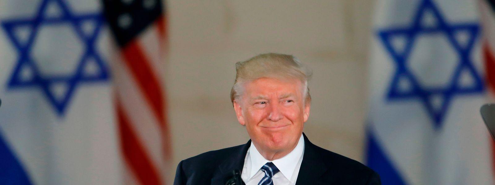 Donald Trump, hier bei einem Staatsbesuch in Jerusalem im Mai, bezieht in der Hauptstadtfrage klar Position.
