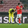 Benfica´s goalkeeper Svilar (L) and Lisandro Lopes (R) react after their team suffered the second goal by FC Basel player during their UEFA Champions League Group A soccer match held at Luz stadium in Lisbon, Portugal, 05 December 2017. MIGUEL A. LOPES/LUSA