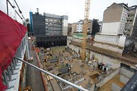 Lokales, Post, Grundsteinlegung, neues Gebäude wird 2022 fertig   Foto: Anouk Antony/Luxemburger Wort
